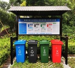 铜罐驿垃圾分类宣传栏