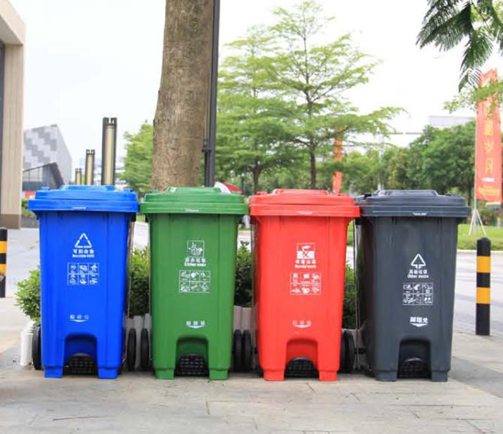 塑料分类垃圾桶XA-8
