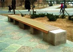 小区道路休闲椅